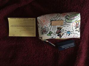 NWT Disney Dooney &Bourke Sketch Coin Purse Cosmetic Case DISNEYLAND DISNEYWORLD