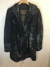 Robert Geller x Levis 2009 Bleached Lined Hooded Trench Jacket Medium