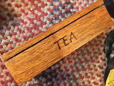 World Market Acacia Wood Tea Box BEAUTIFUL