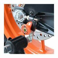 KTM 690 Duke R 2013-2016 R&G Racing Orange cotton reels Paddock Stand bobbins