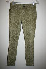 Womens RICH & SKINNY Green Reptile Snake Print Jeggings Jeans Pants Stretch 24