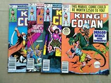 KING CONAN #3 ,4 ,6,7  1980 Marvel comics NICE CONDITION !!! $3 SHIPPING !!!