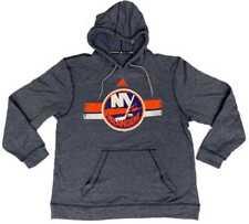 """New York Islanders Adidas Navy """"Ultimate Hood"""" Comfy Hoodie Sweatshirt (L)"""