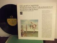 "Elliott Carter,Nonesuch,""Sonata For Flute,Oboe,Cello+"",US,LP,stereo,composer,M"