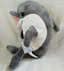 "Princess Soft Toys Gray Dolphin Plush Stuffed Animal Melissa & Doug 11"" Tall"