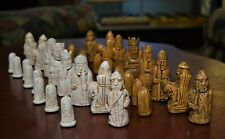 NEW  2019 ISLE OF LEWIS CHESS SET -- FEATURING the NEW ROOK! - with MAT (906)
