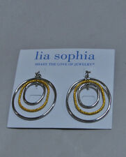 Lia Sophia Epic earrings gold silver