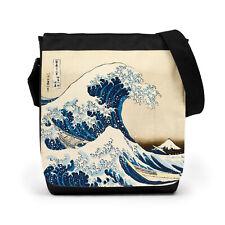 Japanese Hokusai Wave Bag Tablet Anime Cross Body Messenger Shoulder Reporter