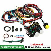 12 Circuit Wiring Harness Wire Kit Street Rod Hot Rod Chevy Ford Universal
