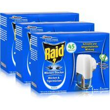 3x Raid Mücken Stecker inkl. Nachfüller für ca. 45 Nächte Mückenfrei
