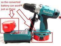For Makita 18V Li-Ion Battery to Makita 18V NICD NIMH Adapter Converter