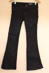 Ladies G-STAR RAW Jeans W26 L30 - Nova Midwaist Bell Cut Darkwash Denim - MINT