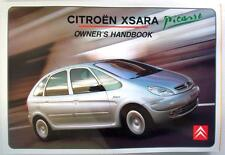 CITROEN XSARA PICASSO - Original Car Owners Handbook - Jul 2001- # N68-GB-3001/4