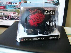 MARCUS ALLEN HOFer auto Red Ink 2020 ECLIPSE ALTERNATE Mini Helmet Beckett Cert