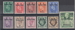 Great Britain, East Africa Forces, Sc 14-24 MOG. 1950 KGVI with TRIPOLITANIA ovp