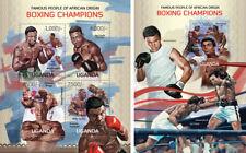 Boxeo África Muhammad Ali Patterson Tyson Deportes Uganda MNH Juego de Sellos