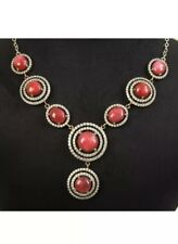 Antique Vintage 925 Silver Necklace With Ruby And Sapphires. (50Gram)