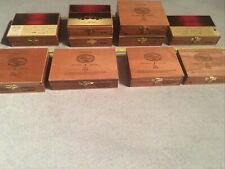 LOT OF 10 PADRON VARIOUS SMALL CIGAR BOXES WOODEN GUITAR WOOD BOX AID JEWELRY