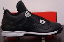 Mens Nike Air Jordan IV 4 Baseball Cleats Oreo Black Retro 13 807710-010 Metal