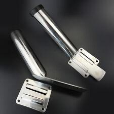 2 Pcs Removable Slide Mount  Fishing Rod Holder for Stainless Steel S.S Global