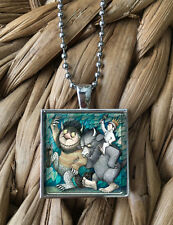 Where the Wild Things Are Monster Max Glass Pendant Silver Chain Necklace NEW