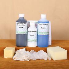 Vinyl Faux Leather Restore Kit /Dye Stain Pigment Paint 4/5 seats Car/sofa
