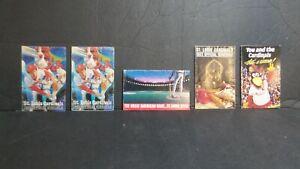 LOT 5 ST LOUIS CARDINALS POCKET SCHEDUALS 1982(2) 1 EACH OF 83',85', 89'