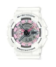 Casio G-Shock GMAS110MP-7A S Series Women's White Pink Resin Ana-Digi Watch