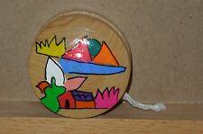 Souvenir El Salvador Wood Yo-Yo Hand-painted