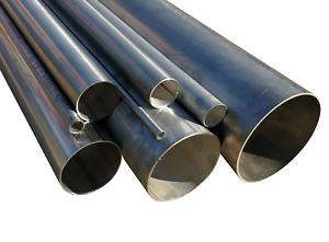 Edelstahlrohr Leitungsrohr geschweißt  DIN EN 10217-7 Länge 1000mm  Ø6 - Ø114,3