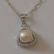 925 STERLING SILVER WHITE PEARL PENDANT