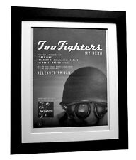 FOO FIGHTERS+MY HERO+POSTER+AD+RARE ORIGINAL 1997+FRAMED+EXPRESS GLOBAL SHIP