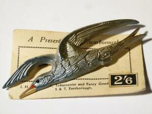 A Present Scarborough Large BIRD Celluloid, Souvenir JH Wherritt Brooch #V78