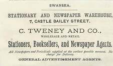 1879 Swansea Stationery And Newspaper Warehouse C Tweney And Co-