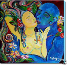 LOVERS PAINTING - LARGE FINE ART GICLEE PRINT ON CANVAS