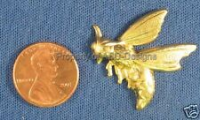6pc Raw Brass Bee Hornet Wasp YellowJacket Finding 5332