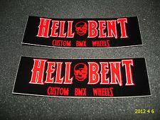 2 AUTHENTIC HELL BENT CUSTOM BMX WHEELS STICKERS / DECALS #2 AUFKLEBER