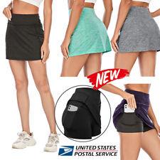 Women's Skort Lightweight Skirt Running Tennis Golf Workout Sports Shorts Pants