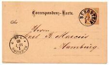 Austria 1885 2Kr Postal Stationery card from Burgstein