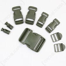 9 pièces vert olive Boucle Ensemble - rechange de Sac à dos toile ceinture CLIPS