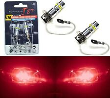 LED 50W H3 Red Two Bulbs Fog Light Quality Replacement Fit JDM Show Color