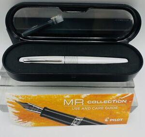 Brand New With Box Pilot Metropolitan White Tiger Fountain Pen - Fine Point