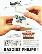 PUBLICITE ADVERTISING 086  1964  Philips  rasoir éléctrique Super-confort Philsh