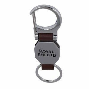 Royal Enfield Key Chain Silver and Brown free shipping  US