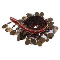 1 Yard Shell Beaded Tassel Fringe Trim Ribbon for Sewing DIY Craft Millinery