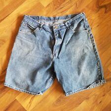 Wrangler Mens Relaxed Fit Blue Jean Casual Shorts Size 38 Measure 36 Waist Bin4