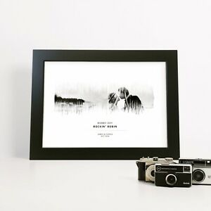 Personalised Sound Wave Photograph Print Anniversary Gift Wedding Birthday
