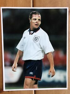 Paul Gascoigne England 10x8 Original Press Photo. Newcastle Everton Spurs Boro