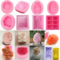 DIY Silicone Flower Candle Cake Soap Mold Craft Molds Handmade Mould Baking Tool