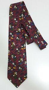 DISNEY'S Micky Mouse Men's Neck Tie Davenport Novelty Made In Korea